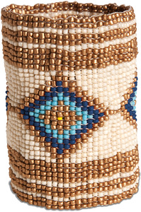 "Twilight by Tribal Chic Collection - 3.25"" Beaded Stretch Bracelet"