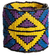 "After Dark by Tribal Chic Collection - 2"" Beaded Stretch Bracelet"