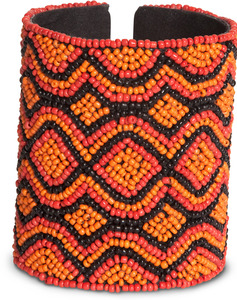 "Flame by Tribal Chic Collection - 3.25"" Beaded Cuff Bracelet"