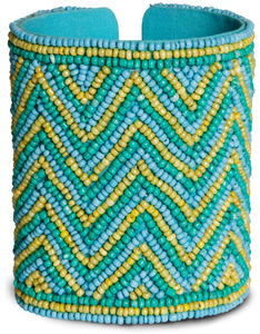 "Seascape by Tribal Chic Collection - 3.25"" Beaded Cuff Bracelet"