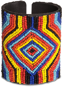 "Glow by Tribal Chic Collection - 3.25"" Beaded Cuff Bracelet"