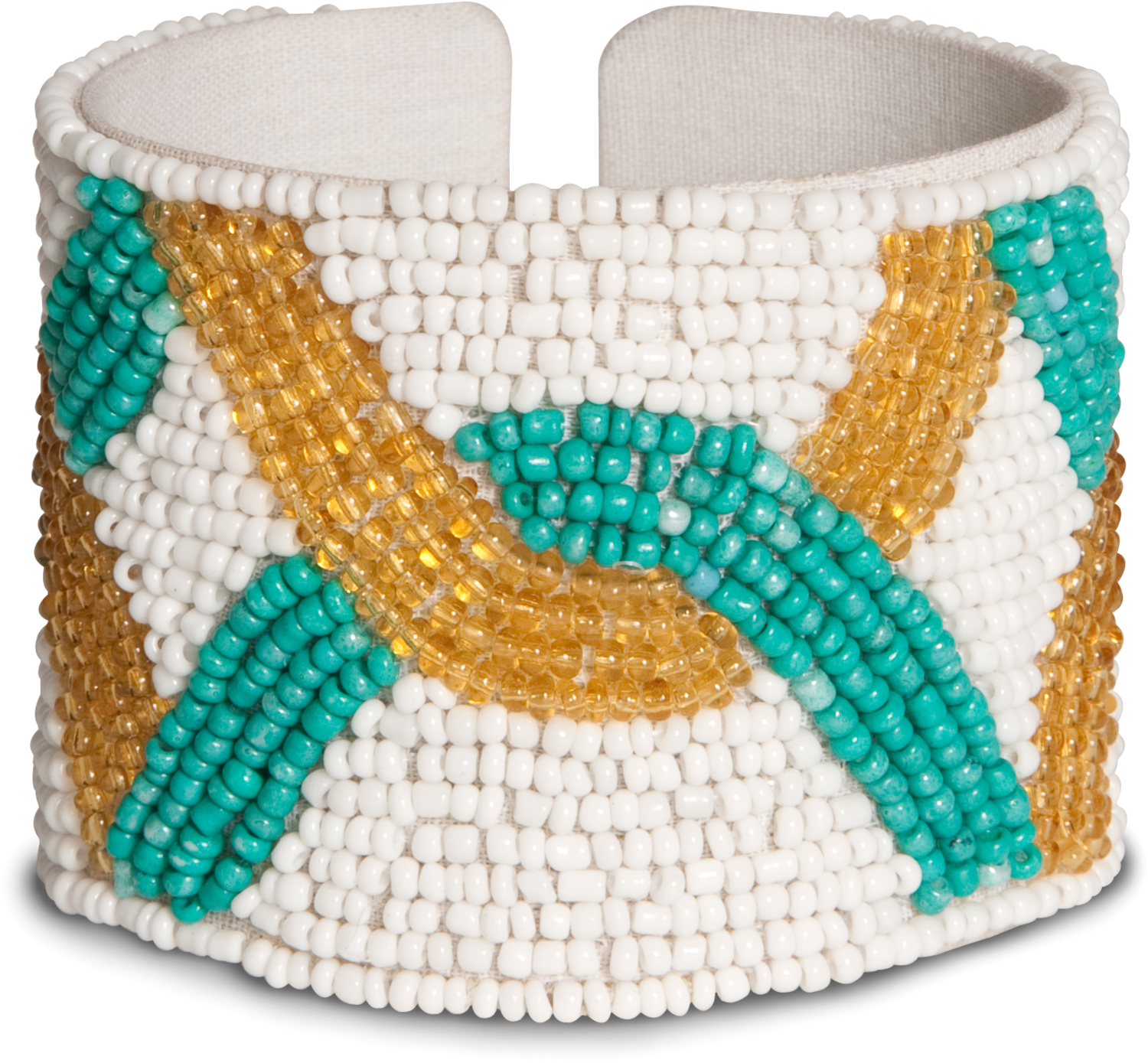 "Mosaic by Tribal Chic Collection - Mosaic - 2"" Beaded Cuff Bracelet"