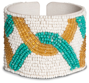 "Mosaic by Tribal Chic Collection - 2"" Beaded Cuff Bracelet"