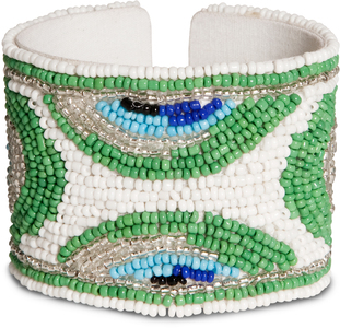 "Peacock by Tribal Chic Collection - 2"" Beaded Cuff Bracelet"