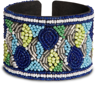 "Marina by Tribal Chic Collection - 2"" Beaded Cuff Bracelet"