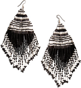 "Zest by Tribal Chic Collection - 4.75"" Beaded Earrings"