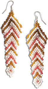 "Sandy by Tribal Chic Collection - 3"" Beaded Earrings"