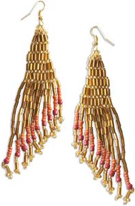 "Crescendo by Tribal Chic Collection - 4"" Beaded Earrings"