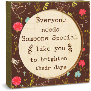 "Someone Special by Live Simply by Amylee - 4.5"" x 4.5"" Plaque"