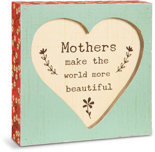 "Mother by Live Simply by Amylee - 4.5"" x 4.5"" Plaque"