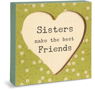 "Sister by Live Simply by Amylee - 4.5"" x 4.5"" Plaque"