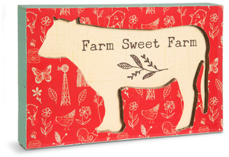 "Farm Sweet Farm by Live Simply by Amylee - 7"" x 4.5"" Plaque"