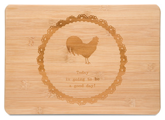 "Good Day by Live Simply by Amylee - 13"" x 9"" Bamboo Cutting Board"