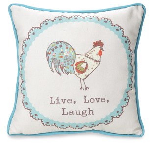 "Live, Love, Laugh by Live Simply by Amylee - 12"" x 12"" Canvas Pillow"