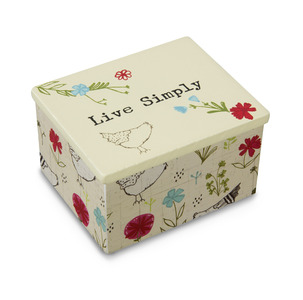 "Live Simply by Live Simply by Amylee - 2"" x 2.25"" MDF Keepsake Box"