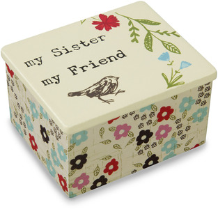 "Sister by Live Simply by Amylee - 2"" x 2.25"" MDF Keepsake Box"