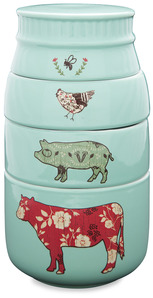 "Farm Animals by Live Simply by Amylee - 6"" x 3.5"" Stacked Measuring Cups"