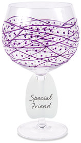 Purple Tangle by Sunny by Sue - 24 oz Hand Decorated Glass
