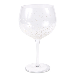 White Dots by Sunny by Sue - 24 oz Hand Decorated Glass