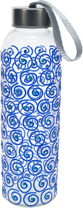 Blue Swirl by Sunny by Sue - 16.5 oz Hand Decorated Water Bottle