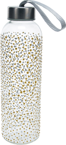 Gold & Silver Dots by Sunny by Sue - 16.5 oz Hand Decorated Water Bottle