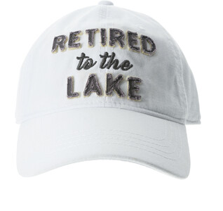 Lake by Retired Life - White Adjustable Hat