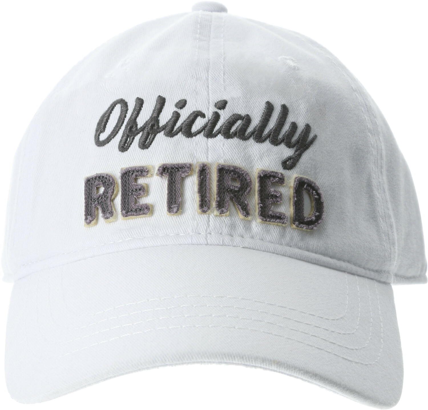 Officially by Retired Life - Officially - White Adjustable Hat