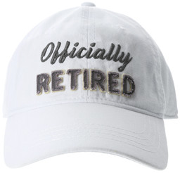 Officially by Retired Life - White Adjustable Hat