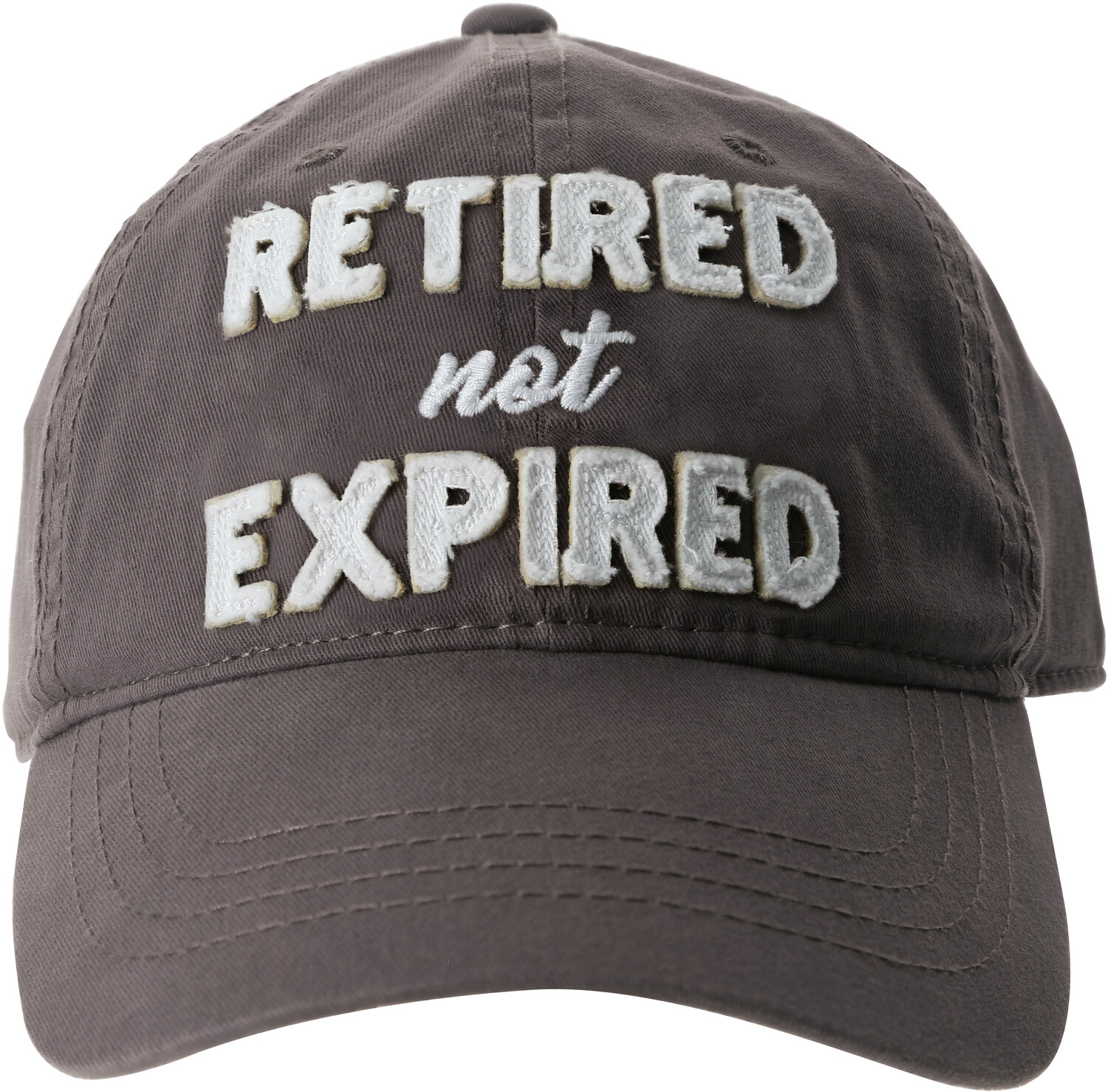 Not Expired by Retired Life - Not Expired - Gray Adjustable Hat