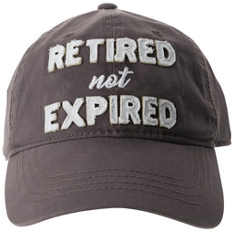 Not Expired by Retired Life - Gray Adjustable Hat