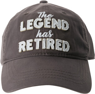 The Legend by Retired Life - Gray Adjustable Hat