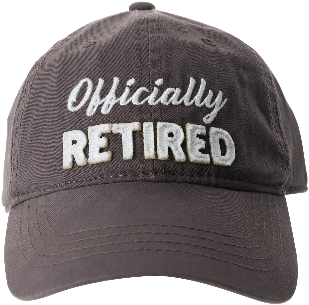Officially by Retired Life - Officially - Gray Adjustable Hat