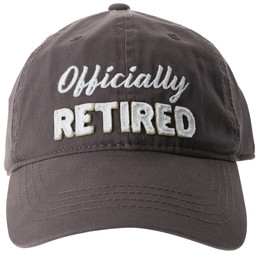 Officially by Retired Life - Gray Adjustable Hat