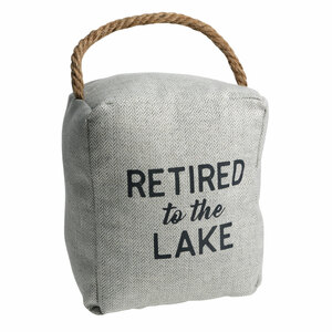 "Lake by Retired Life - 5"" x 6"" Door Stopper"