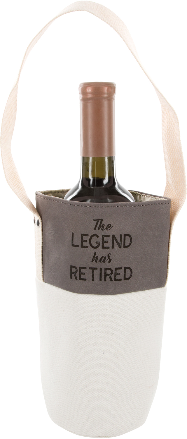 The Legend by Retired Life - The Legend - Canvas Bottle Gift Bag