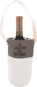 The Legend by Retired Life - Canvas Bottle Gift Bag