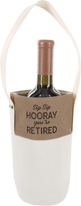 Sip Sip by Retired Life - Canvas Bottle Gift Bag