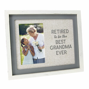"Retired Grandma by Retired Life - 9.75"" x 8.25"" Frame (Holds 4"" x 6"" Photo)"