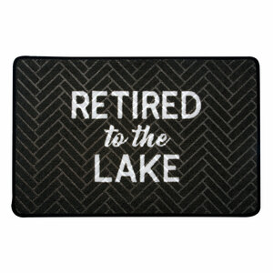 "Lake by Retired Life - 27.5"" x 17.75""   Floor Mat"