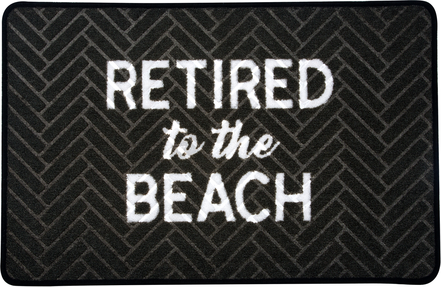 "Beach by Retired Life - Beach - 27.5"" x 17.75""   Floor Mat"