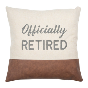 "Officially by Retired Life - 18"" Pillow"