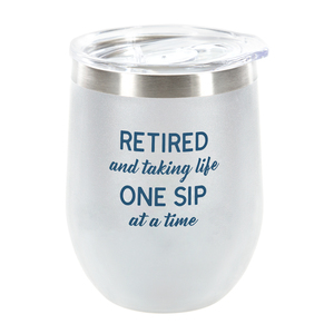 One Sip by Retired Life - 12 oz Stemless Tumbler
