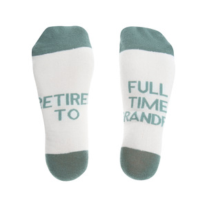Full Time Grandpa by Retired Life - M/L Cotton Blend Sock