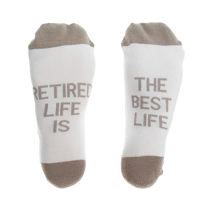 Best Life by Retired Life - S/M Cotton Blend Sock