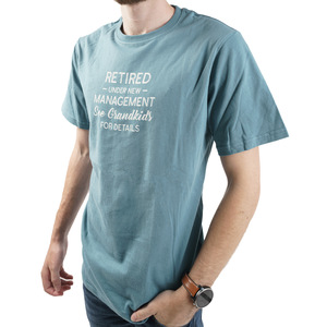 See Grandkids by Retired Life - Large Steel Blue Unisex T-Shirt