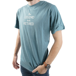 The Legend by Retired Life - Small Steel Blue Unisex T-Shirt