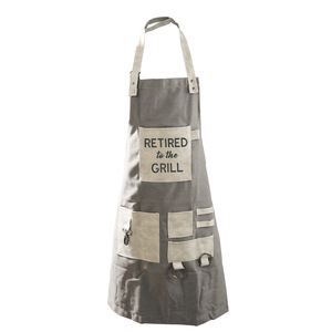 Retired to the Grill by Retired Life - Canvas Grilling Apron