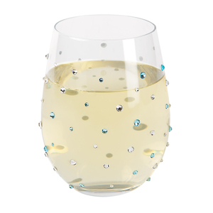 Aquamarine by Empress - 18 oz Gemstone Stemless Glass