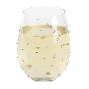 Moonstone by Empress - 18 oz Gemstone Stemless Glass