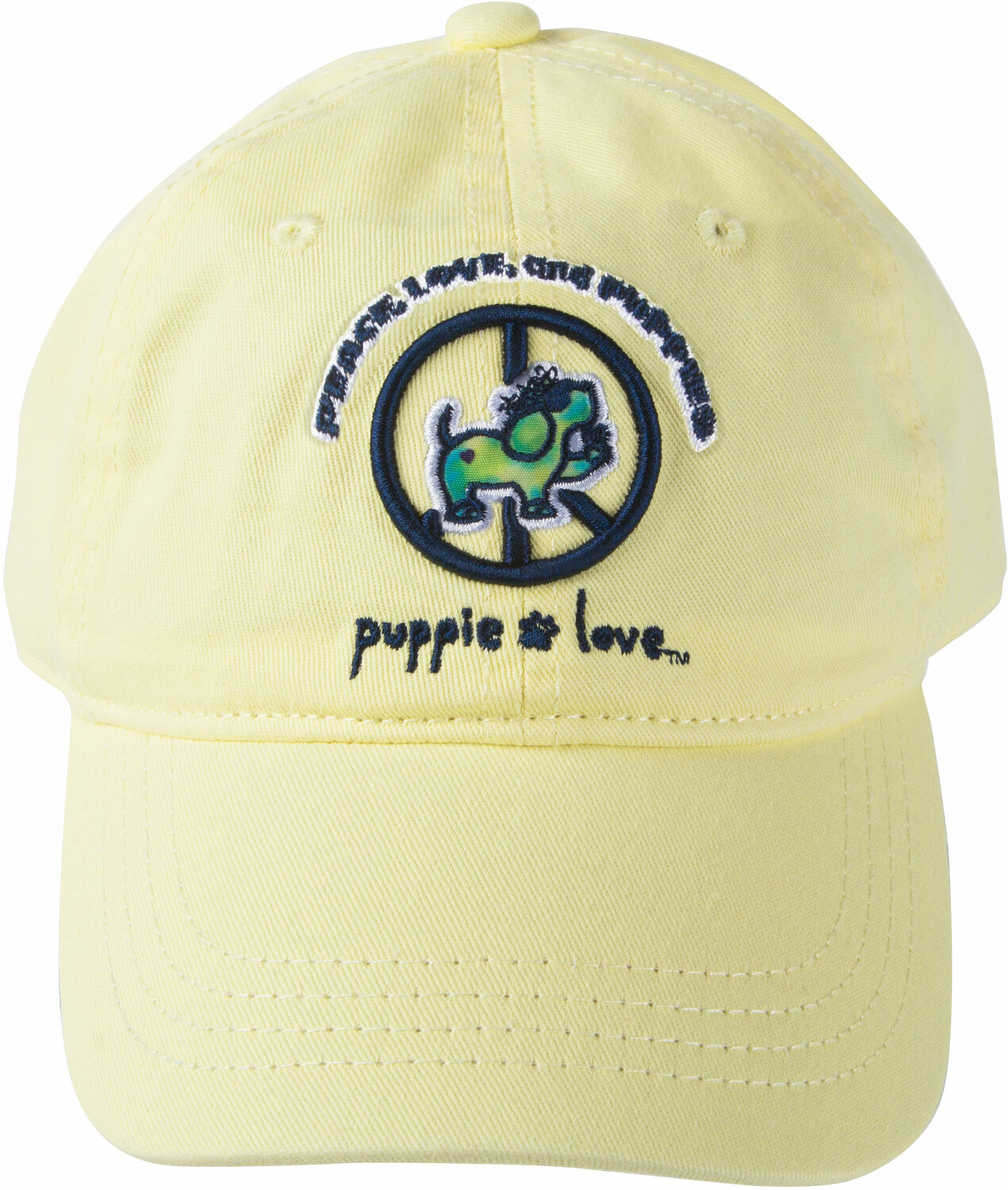 Peace by Puppie Love - Peace - Light Yellow Adjustable Hat